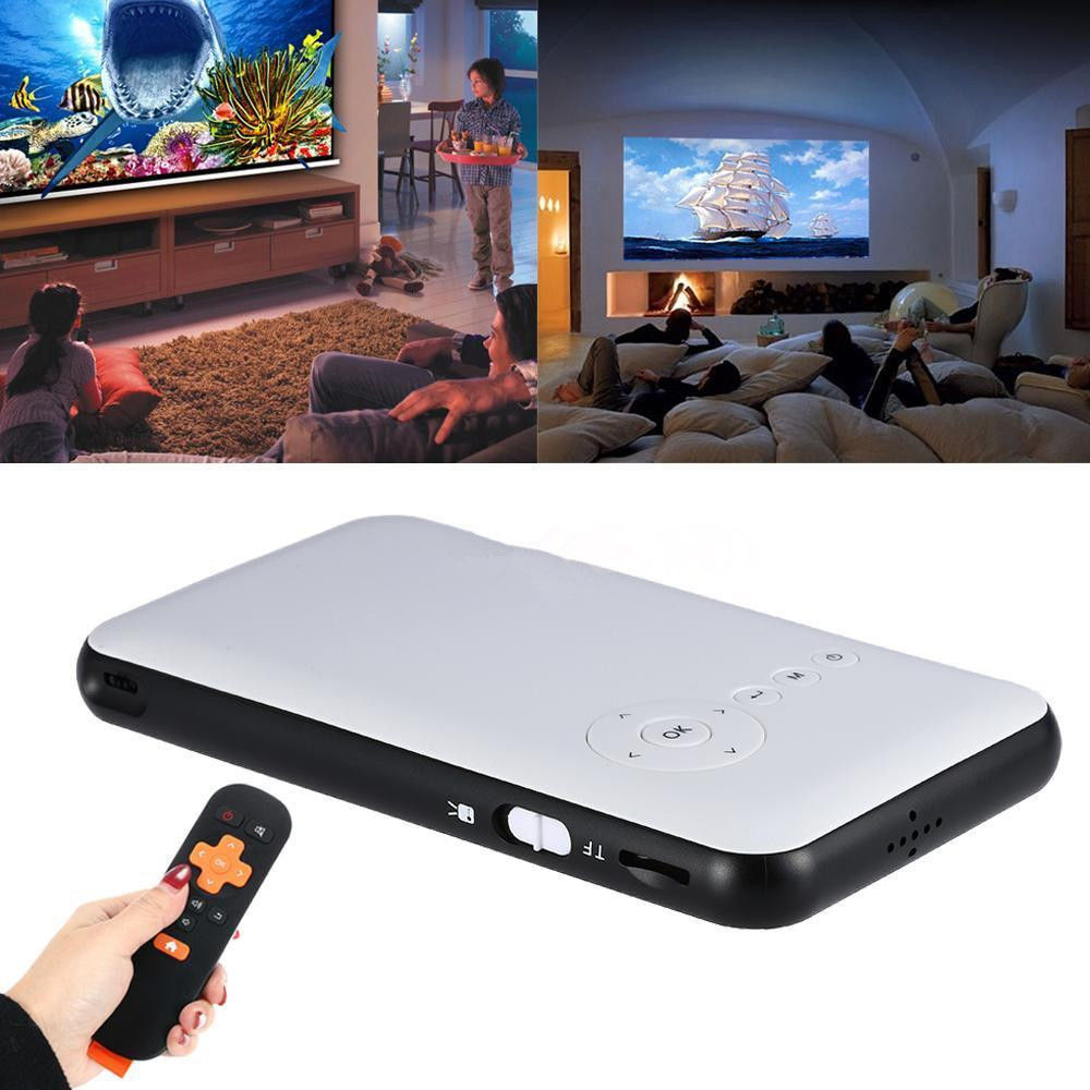 Android 4.4 Mini WiFi Bluetooth DLP Home Theater Projector ...
