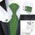 B-1051 Hot Mens Gravatas De Seda Verde Novidade Gravata Lenço Abotoaduras Presente Saco de caixa de Conjuntos de Laços Para Homens Festa de Casamento Negócios Mens Presente