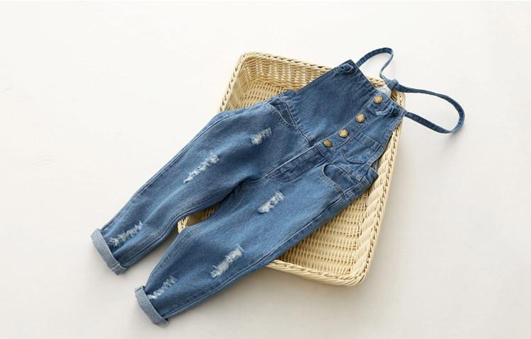 2019 neue ankunft mädchen denim overalls hohe qualität kinder insgesamt jeans frühling & herbst kinder hosen overall 3-10 t trägerhose