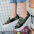 Envío gratis 2017 primavera nuevas mujeres zapatos aumento de la altura mujeres camuflaje ocasional de moda