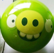 cute standard green pig cartoon urethane bowling ball