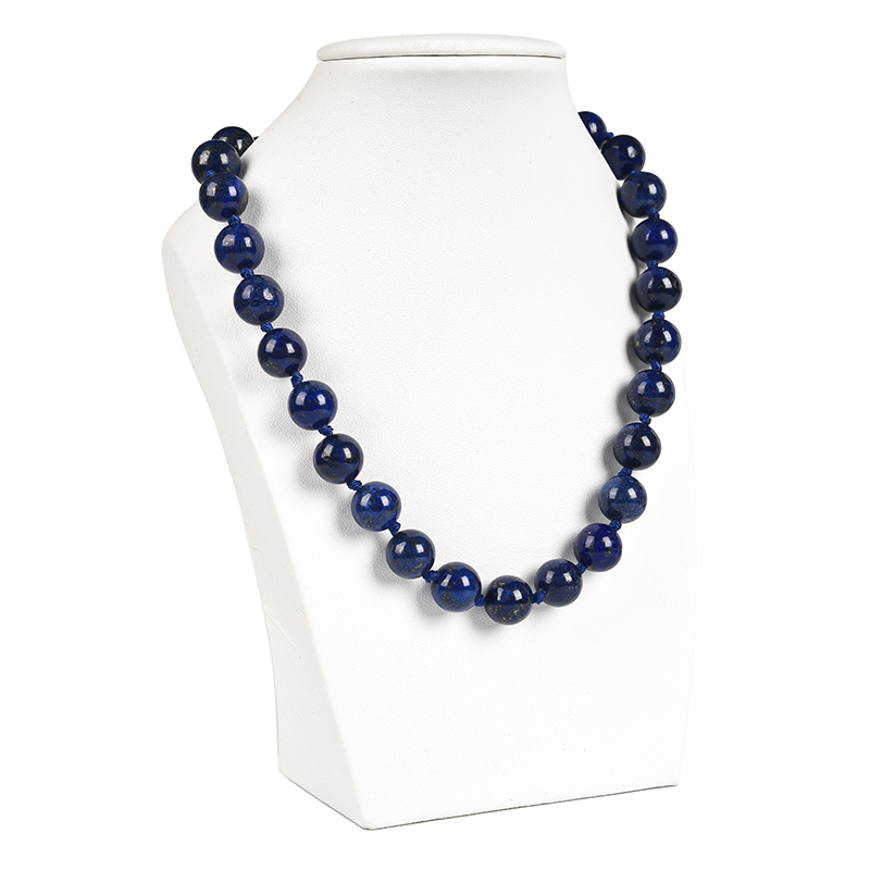 Necessary for the party is <font><b>12</b></font> <font><b>mm</b></font> La z u r i t E Necklace The dazzling color. Both sexes. image
