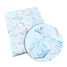 Новинка, 50*145 см, платье для девочек, полиэстер, хлопок, ткань с принтом, швейные стеганые ткани для лоскутного шитья, ручная работа, c3809