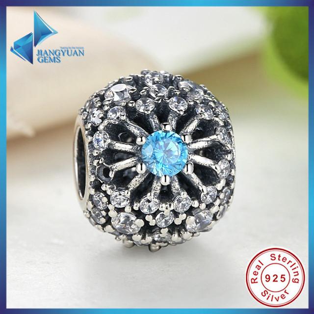 Venda quente 100% Puro de 925 Libras Esterlinas de Prata Desejo da Cinderela Azul Cristal Grânulos de Charme fit Pulseiras Jóias Acessórios originais