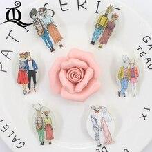 TQ 1 шт. микс прекрасный значки с героями мультфильмов для Рюкзак Kawaii акриловый значки, одежд значки на рюкзака брошь на булавке значок украшения Z17