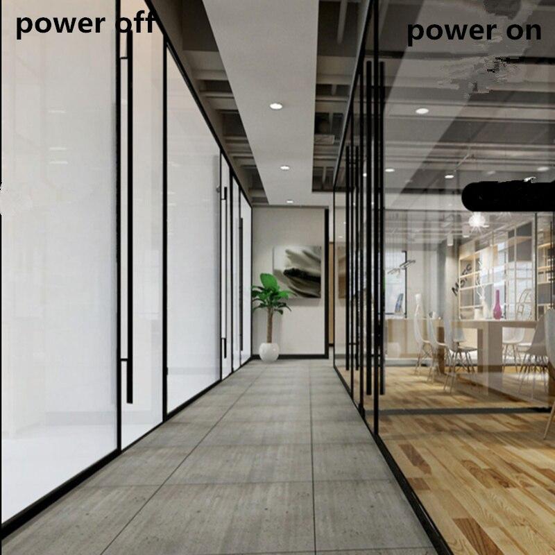 2 pièces 46.2x101.5 cm PDLC teinte intelligente fenêtre pravglacé Film intelligent fenêtre teinte électrochromique Film commutable verre vinyle