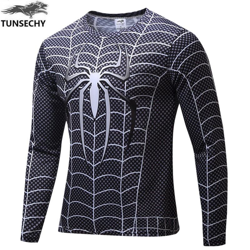 2017 TUNSECHY Marvel Comics Super Heroes Spiderman Superman Captain America Batman Man Hulk T-shirt Costume Wholesale and retail