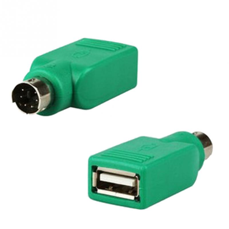 2pcs/lot Computer Connect Adpaters For PS2 Interface Converter USB Adapter Head To U Port USB Switch Keyboard Mouse Plug #907