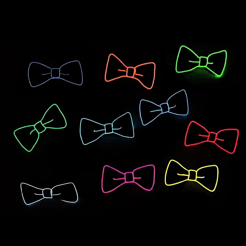 Back To Search Resultsapparel Accessories Industrious Fashion Fashion Men Led El Wire Necktie Luminous Neon Flashing Light Up Bow Tie For Club Cosplay Evening Party Decoration Hsj88