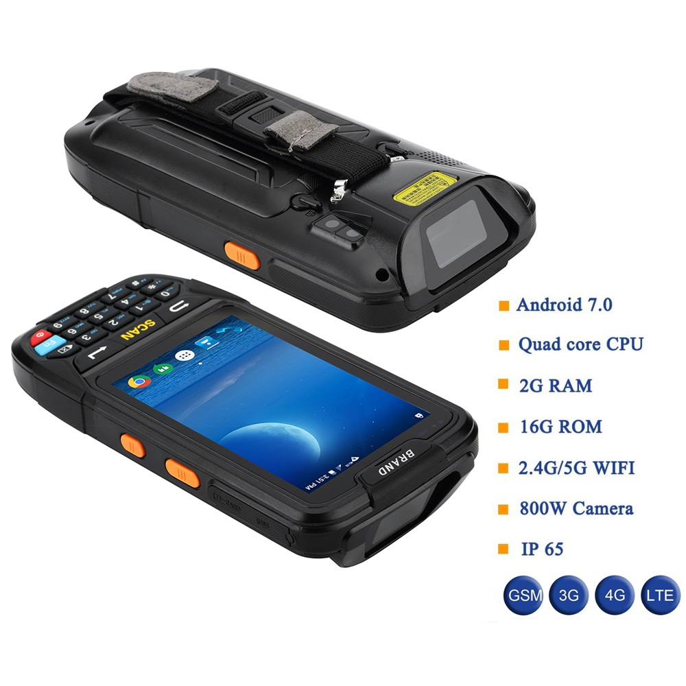 IssyzonePOS PDA Terminal 1D 2D Barcode Reader Android 7 Data Collector Wifi Bluetooth for Inventory Management Warehouse System-in Scanners from Computer & Office    2