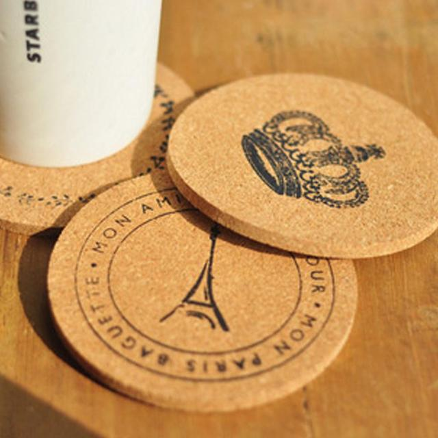 2Pcs Cork Wood Drink Coaster Tea Coffee Cup potholder Mat Japan Style Flexible Table Heat Resistant : table coasters for drinks - pezcame.com