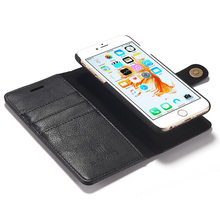 Magnetic Detachable Leather Case For iPhone 6s Plus Back Cover Luxury Wallet Flip Genuine Leather Case For iPhone 6 Plus