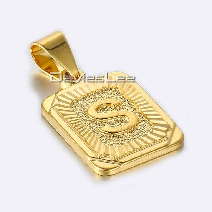 gold letter s pendant