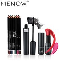 MENOW Makeup Set Whole Sale Matte Lipstick Amp Waterproof Mascara Amp Lasting 12 Colors Set Eyeliner