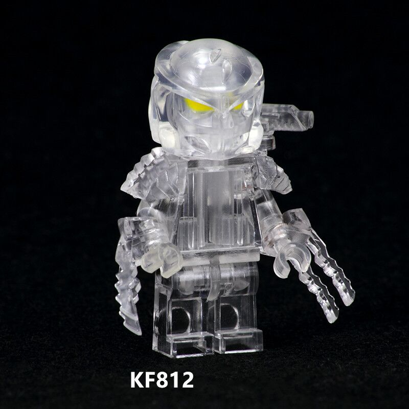 Super Heroes The Movie Series Transparent Predator Bricks Building Blocks Dolls Action Figures Gift Toys For Children KF812