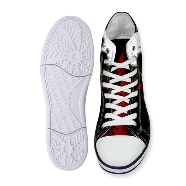 2016 Fashion High Top Canvas Shoes Harley Quinn Joker style