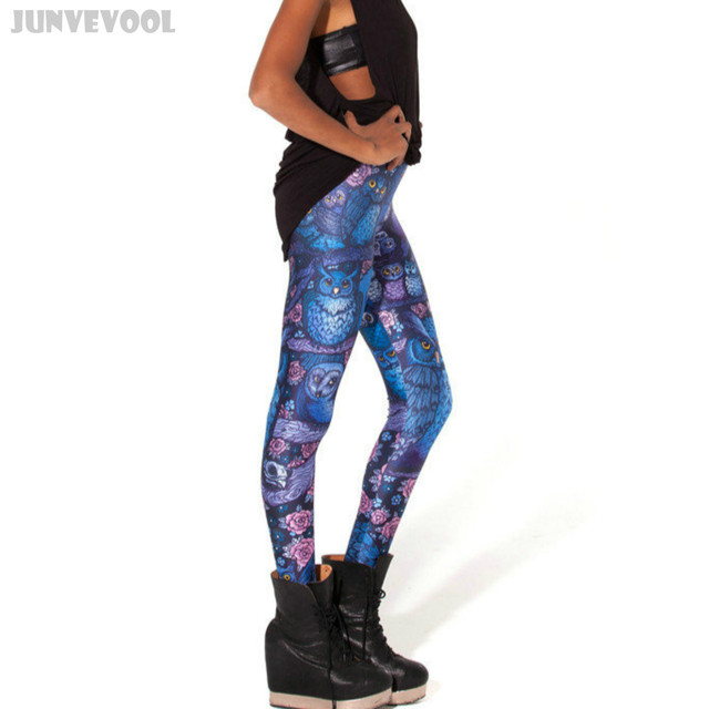 Sportswear Clothing for Women Flower Owl Galaxy Floral Digital 3D Animal Print Girl Funky Casual Skinny Soft Plus Size Leggings
