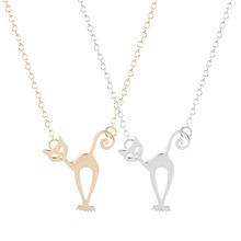 New Style Cute Stray Cat Necklace Unique Pendant Collares Minimalist Jewelry Gift Necklace for Girls and Women necklace set