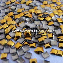 Золотые и серебряные дополнительные квадратные diy акриловые 3d металлические украшения для ногтей Стразы металлические заклепки для ногтей Прямая