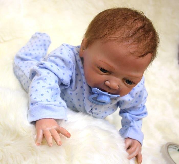 Silicone macio renascer bebê menino bonecas 20