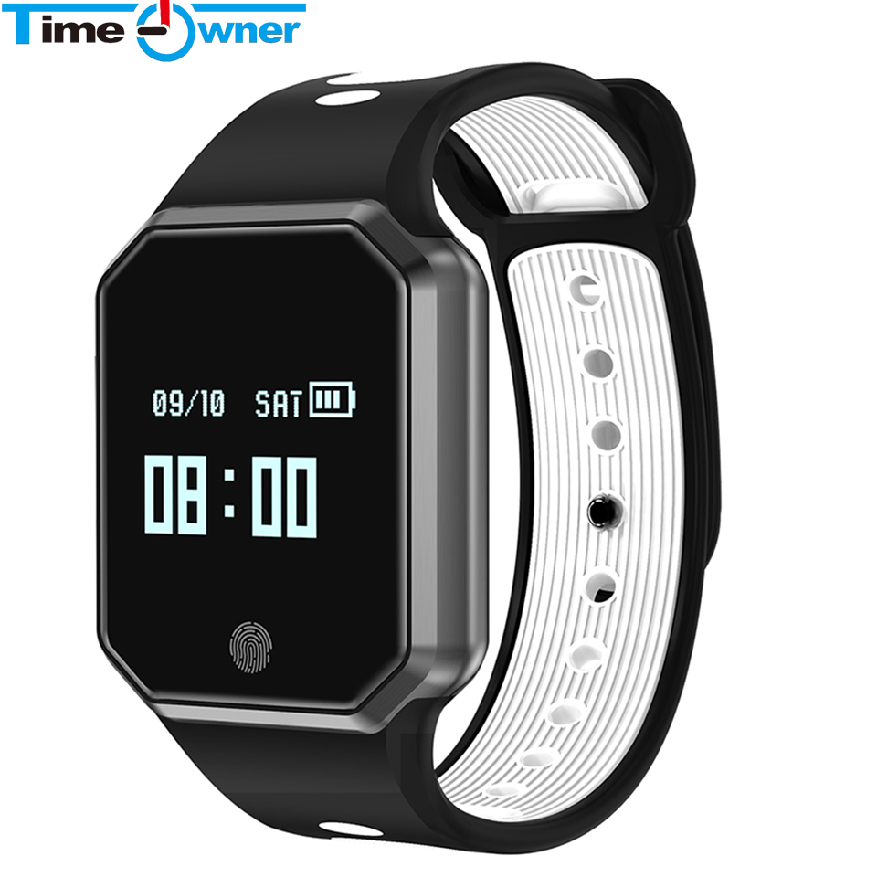 Time Owner QW11 Bluetooth Smart Wristband Heart Rate Blood Pressure Monitoring Smart Reminder Depth Waterproof for Android IOS