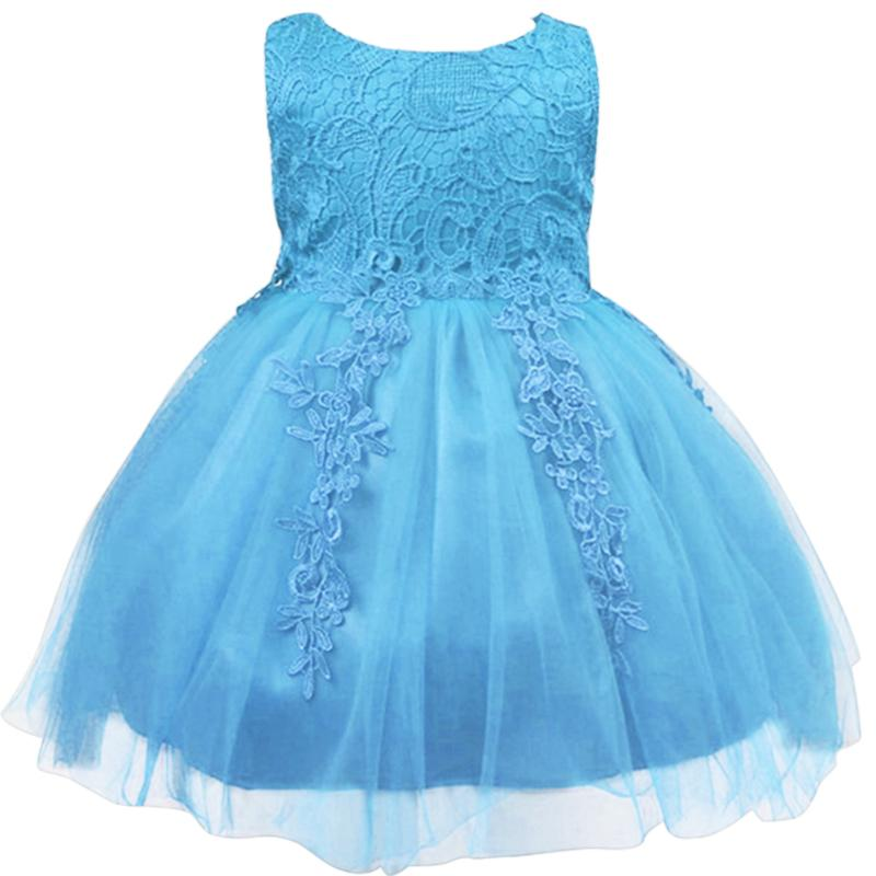 Kids Girls Flower Dress Baby Girl Birthday Party Dresses Children Fancy Princess Ball Gown Wedding Clothes Blue Purple 4-8 Years sleeveless casual dress for girl clothes princess dress baby girls clothes flower ball gown dresses kids birthday party costumes