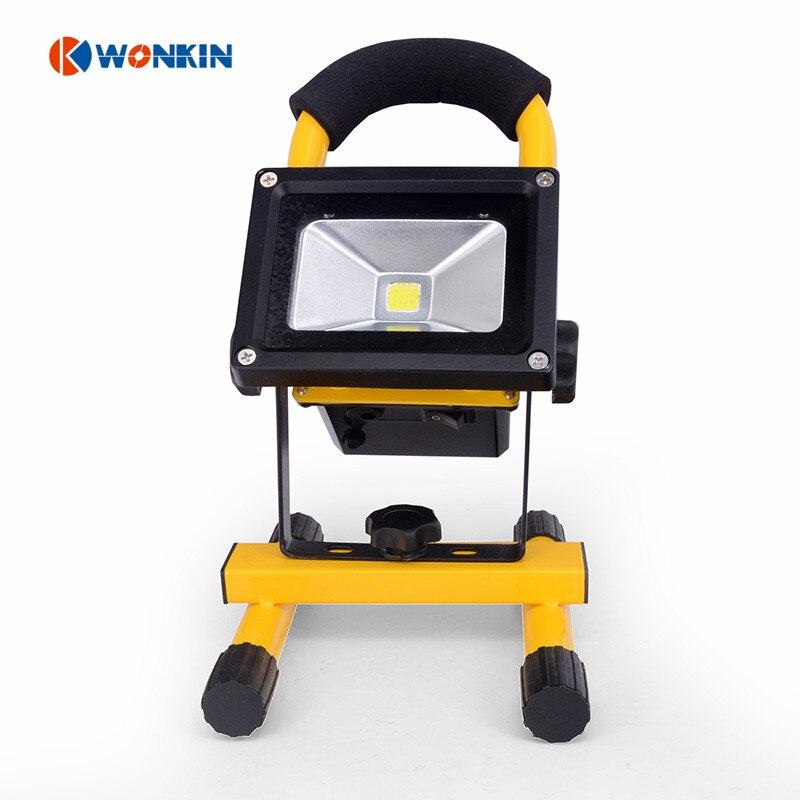 ФОТО 10W led floodlight Rechargeable USB 5V light lamp 3000K 6500K IP65 Outdoor Street Garden Using spotlight