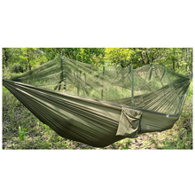 Двойной человек путешествий Открытый Кемпинг палатки подвесной гамак кровать и москитная сетка зеленый