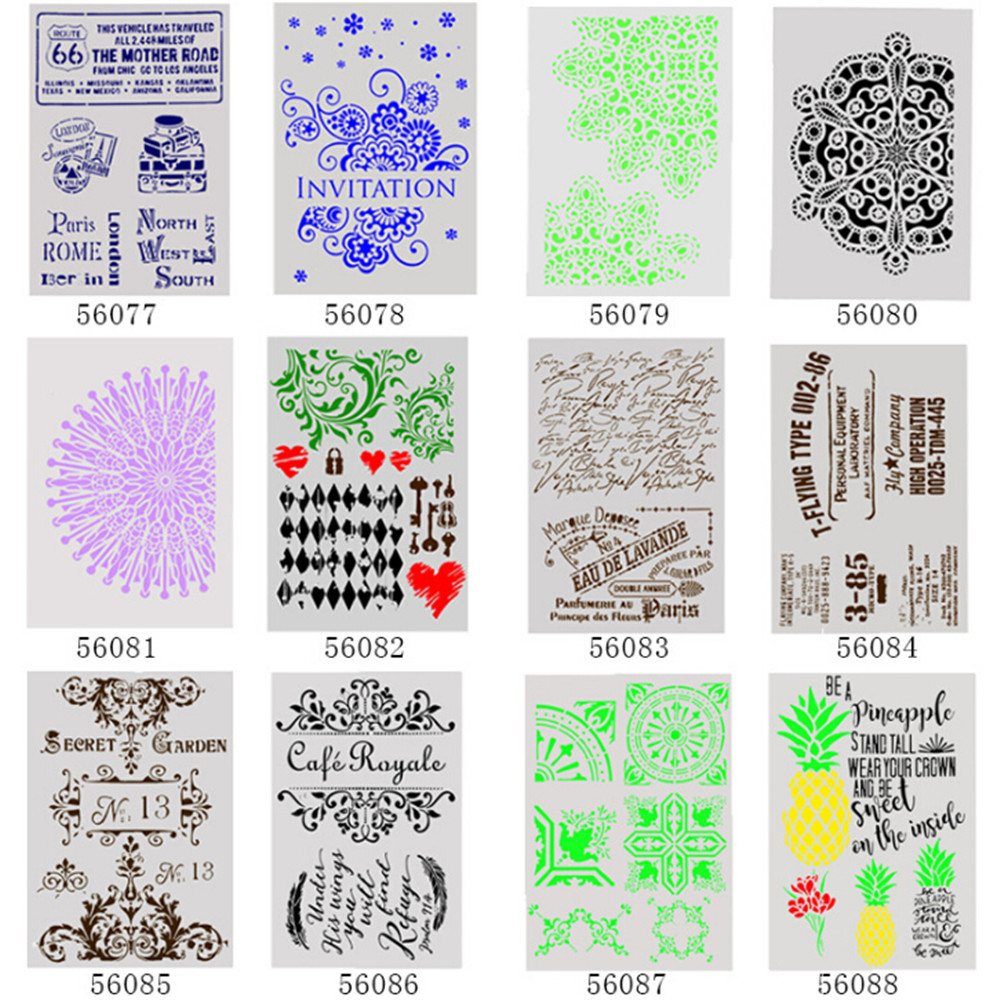 DIY Craft Layering Stencils Template For Walls Painting Scrapbooking Stamping Art DIY Home Decor Scrap Booking Album Crafts New