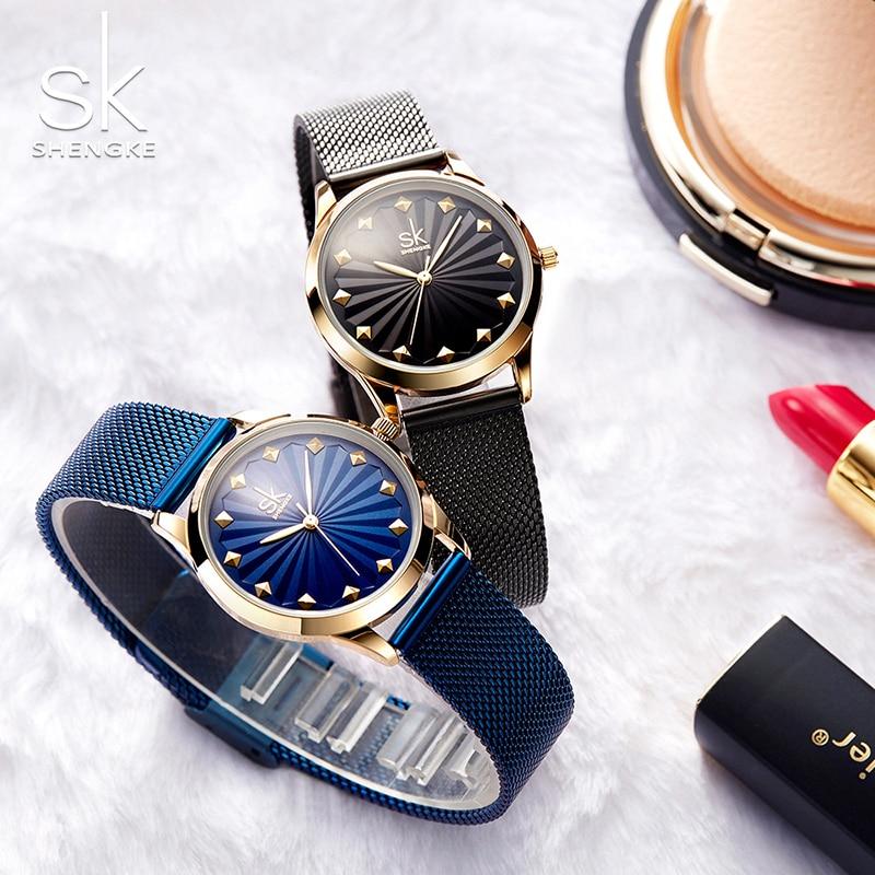 Shengke Topkwaliteit Luxe Mode Horloges Dameshorloge Nieuwe Quartz - Dameshorloges - Foto 3