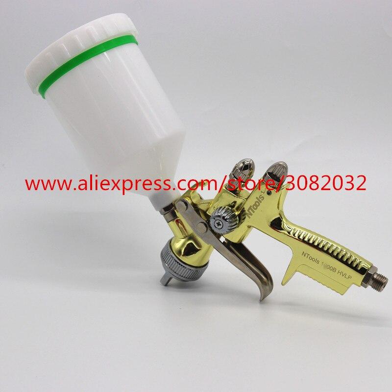 Gold Spray Gun 1 3mm N001G spray gun Gravity Feed Air Paint Spray Gun Set with