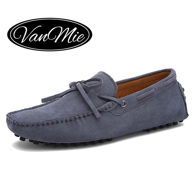 Vanmie 2017 New Arrival Casual Mens Shoes Suede Leather Men Loafers  Moccasins Fashion Low Slip On