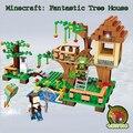 2017 Новый JX Фантастический Дерево Дом Мой мир Minecraft Строительные Блоки Кирпичи Игрушки Для Детей Подарок Цифры
