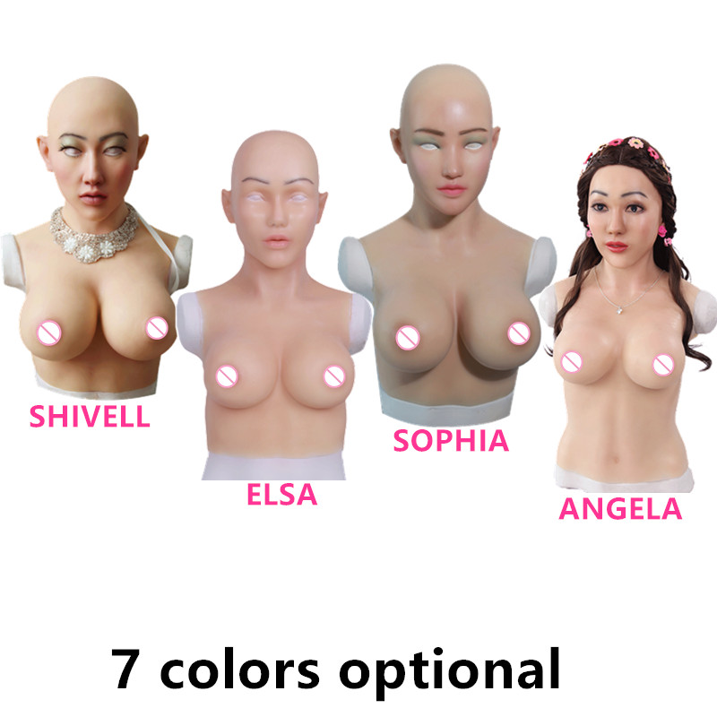 C E Cup Huge Artificial Boobs Silicone Breast Forms With Fake Face For Crossdresser transvestism Transgender shemale Dragequeen d cup fake boobs artificial silicone breast forms for men transvestism crossdresser transgender sissy shemale male to female