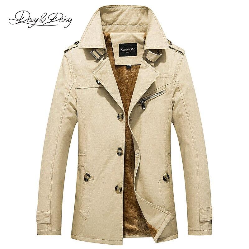 Men's Winter Jacket And Coat Turn-Down Collar Windbreaker Thicken Dress Trench Coat Men Casual Windproof Overcoat 5XL DCT-081