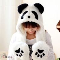 Autumn and winter cute animal panda hat plush cartoon lovers parent-child tide cap56cmHead circumference is about