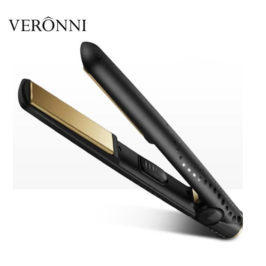 Professional Hair Iron 1 Inch Classic Ceramic Hair Styler Flat Iron V gold Hair curler Hair