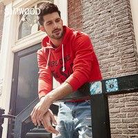 SIMWOOD 2017 Sweatshirts Men Autumn New Letter Hoodies Slim Fit Streetwear Pullover Plus Size Hip Hop