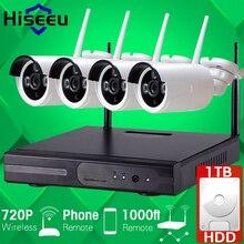 1 TB HDD Plug and Play Inalámbrico de $ number CANALES NVR Kit P2P 720 P HD Visión Nocturna Por INFRARROJOS al aire libre Cámara IP WIFI CCTV Seguridad Sistema de Registro Hiseeu