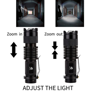 Image 3 - Mini LED Flashlight Waterproof LED Torch Adjustable Focus Flash Light Lamp use 14500 and 18650 battery For adventure, camping