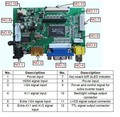HDMI VGA 2AV Placa Controladora LVDS 60PIN TTL Módulo Universal Kit Monitor para Raspberry PI LCD HSD062IDW1 Painel freeship