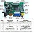 Universal HDMI VGA 2AV 60PIN TTL LVDS Controller Board Module Monitor Kit for Raspberry PI LCD HSD062IDW1 Panel freeship