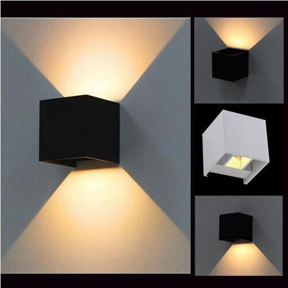 Solfart moderne led sconce væglamper sort skygge væg lys træ - Indendørs belysning - Foto 2