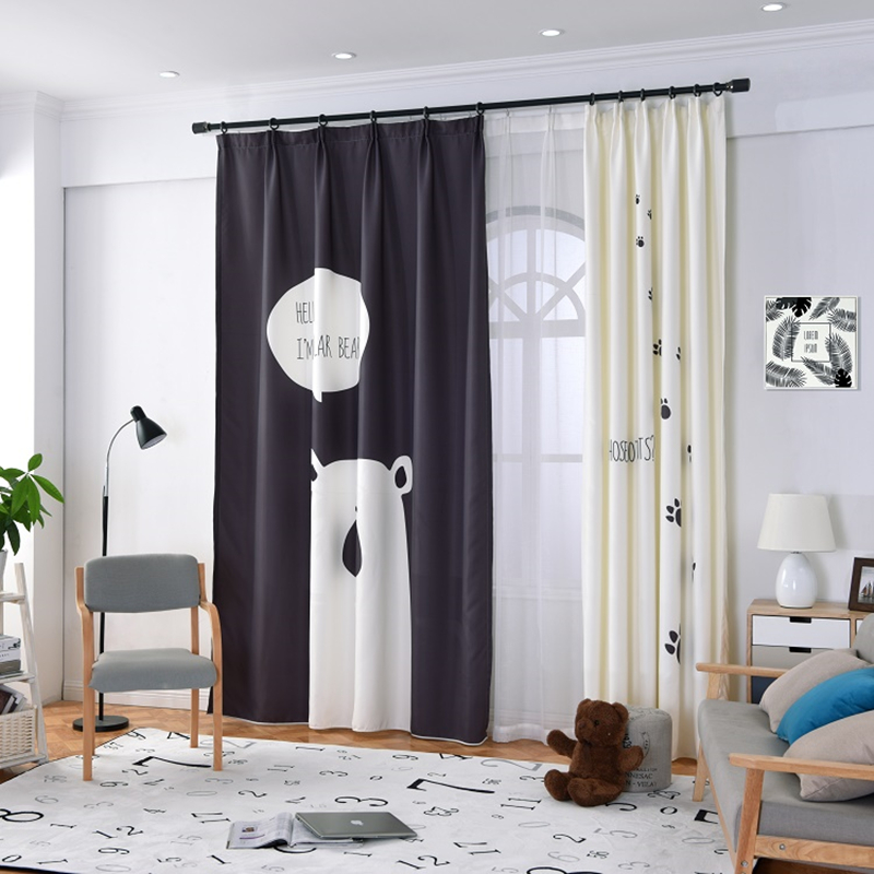 Curtain Cute Living Room Valances For Your Home: 1Pc Home Decoration Nortic Style Curtains For Living Room