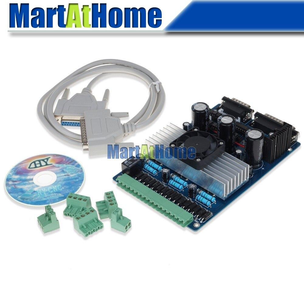 Бесплатная доставка ЧПУ 3 оси TB6560 3.5a Степпер драйвер платы Поддержка Mach3, KCAM4, EMC2 # sm394 @ CF