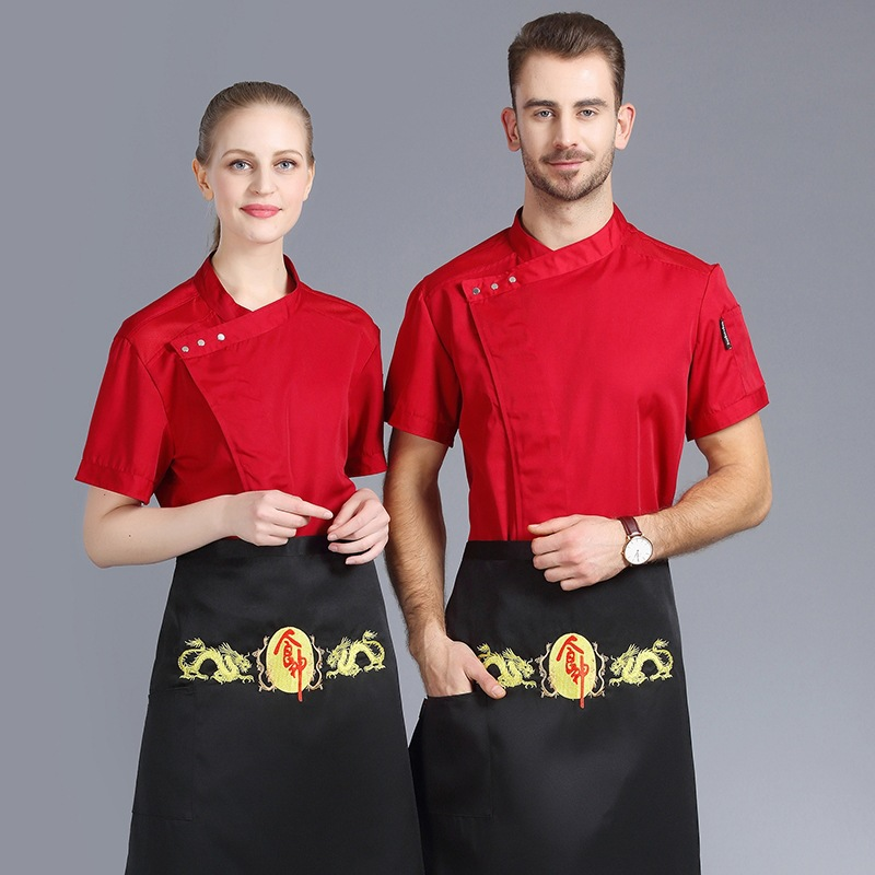 New Chef Clothes Summer Short Sleeve Chef Uniform Hotel Restaurant Breathable Jacket Tops High Quality Cooking Work Clothes in Chef Jackets from Novelty Special Use