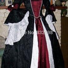 Дракулы в готическом стиле, стиле ренессанс пиратские платья платье Золушки костюм вампира женские Винтаж платье