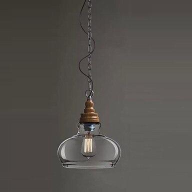 Деревянный Лофт стиль винтаж промышленных кулон освещение ретро лампа Эдисон лампочка, Lamparas люстры е Pendentes