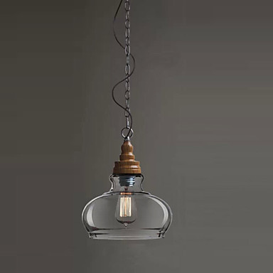 Wooden Loft Style Vintage Industrial Pendant Lighting Retro Lamp Edison Light Bulb, Lamparas  Lustres E PendentesWooden Loft Style Vintage Industrial Pendant Lighting Retro Lamp Edison Light Bulb, Lamparas  Lustres E Pendentes