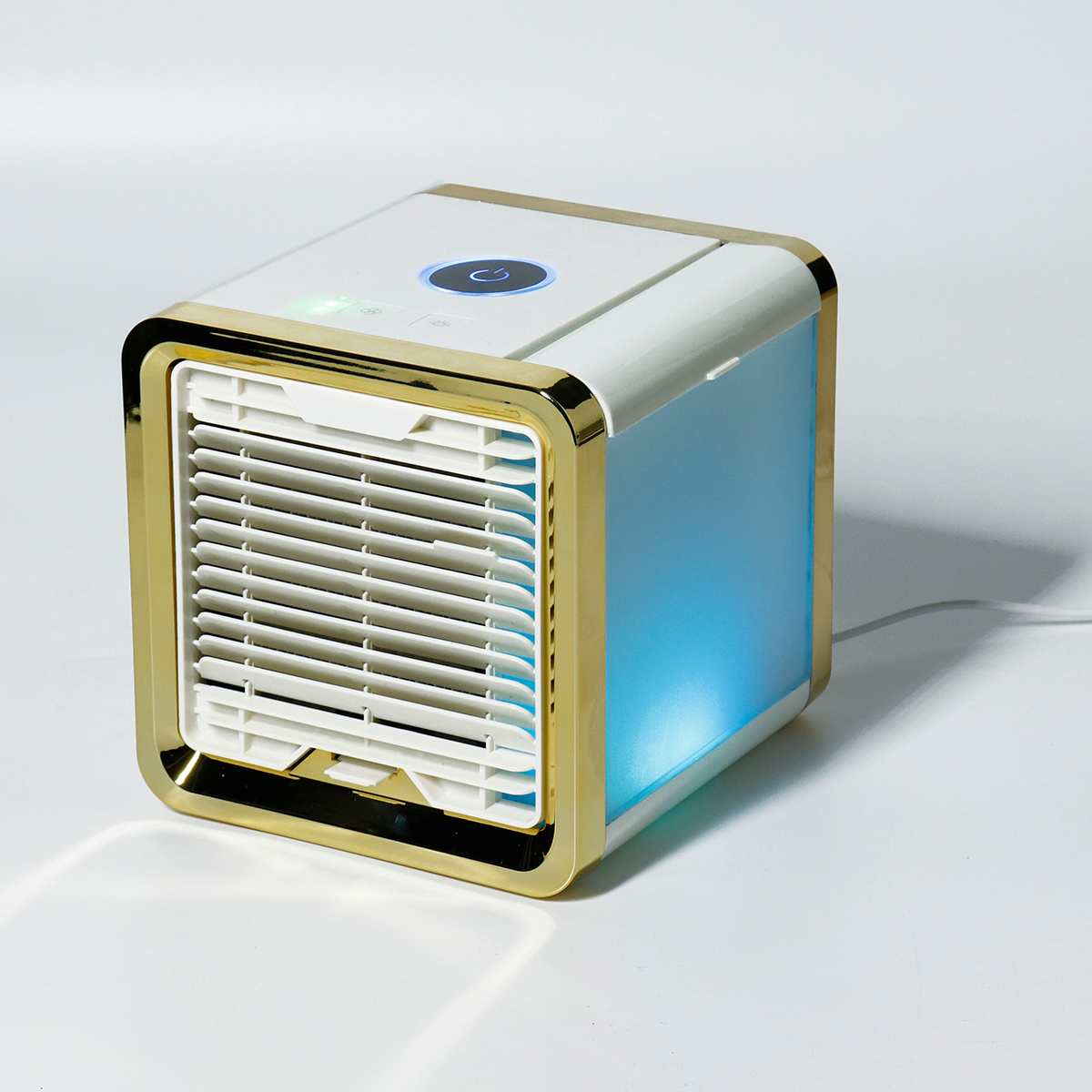 Portable Mini USB Air Conditioner Humidifier Purifier 375ml Capacity Desktop Air Cooling Fan For Office Room 7 Colors LightPortable Mini USB Air Conditioner Humidifier Purifier 375ml Capacity Desktop Air Cooling Fan For Office Room 7 Colors Light